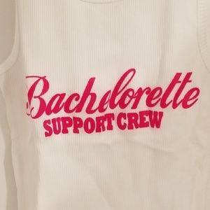 Tops - Bachelorette Support Crew White Tank